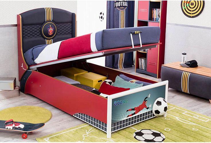 Παιδικό κρεβάτι μπαούλο με θέμα το ποδόσφαιρο Cilek