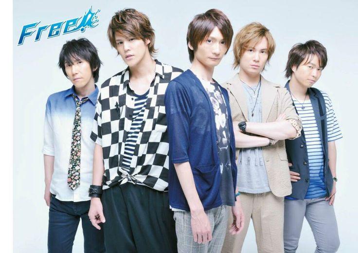 FREE! Seiyuus : Hirakawa Daisuke (Ryugazaki Rei), Miyano Mamoru (Matsuoka Rin), Shimazaki Nobunaga (Nanase Haruka), Suzuki Tatsuhisa (Tachibana Makoto), Yonaga Tsubasa (Hazuki Nagisa)