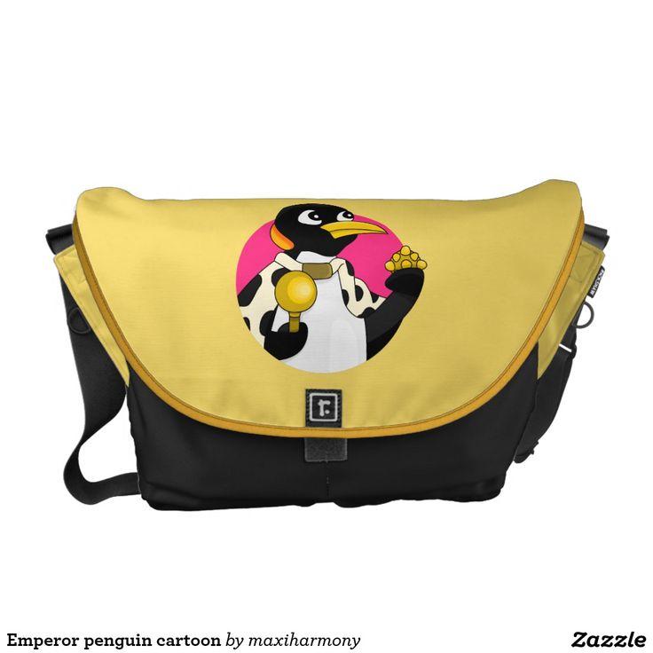 Emperor penguin cartoon courier bags