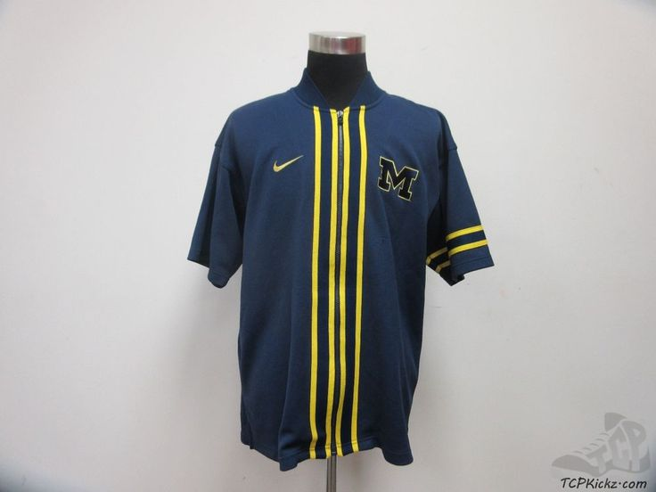 Nike Michigan Wolverines Basketball Shooting Shirt Warm Up sz L Large SEWN #Nike #MichiganWolverines #tcpkickz