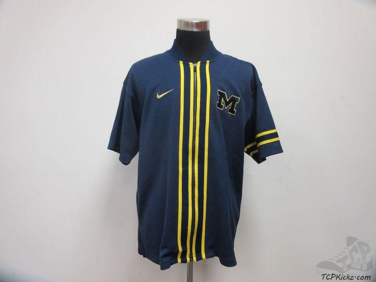 Nike Michigan Wolverines Basketball Shooting Shirt Warm Up sz L Large SEWN #Nike #MichiganWolverines #tcpkickz