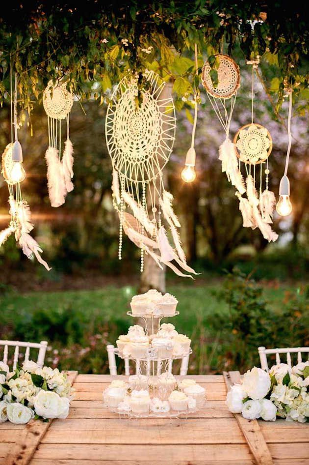 Bohemian wedding decoration; 20 ideas for a dreamcatcher wedding – Outdoor Weddings   New York Wedding Photographer
