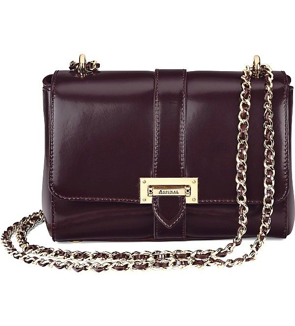ASPINAL OF LONDON - Lottie chain-strap leather bag | Selfridges.com