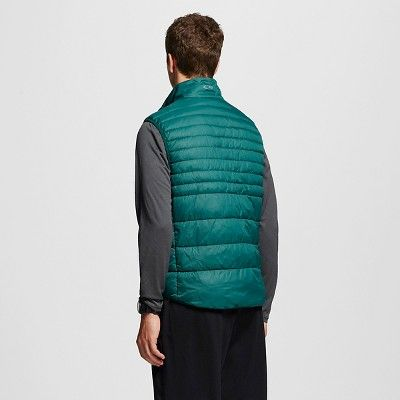 Men's Big & Tall Sizes Lightweight Puffer Vest Dark Green 3XL - C9 Champion, Size: Xxxl
