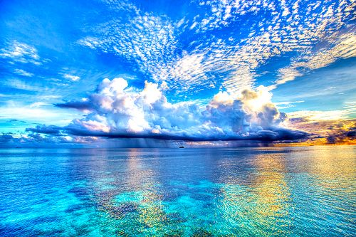 Beautiful :)Blue Sky, Nature, Maldives Island, 50 Shades, The Ocean, Beautiful Clouds, Sea, Places, The Maldives