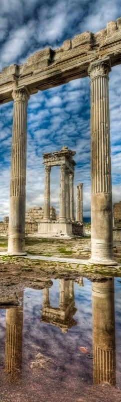 Temple of Trajan, Pergamon, TURKEY.