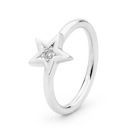 argentonDesign - White Gold Diamond 'Baby Star' ring