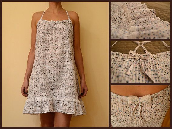 MildDream Flowery Cotton Nightgown Dress With by MildDream on Etsy