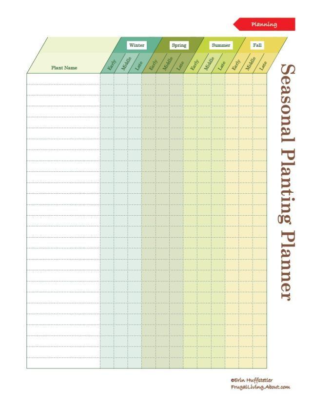 Planting a Garden? Print This Free Garden Planner: Seasonal Garden Planner