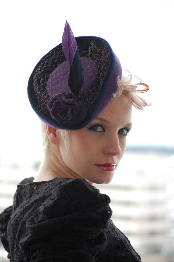 Miniature Victorian Riding Hat, by Red Dragon Fly Akatombo, on Etsy.