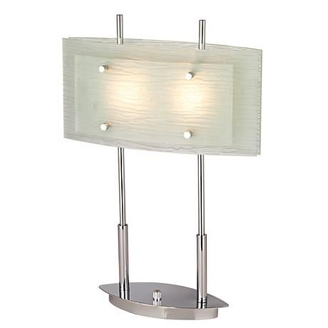 Possini Euro Charles Street Tiered Slumped Glass Desk Lamp