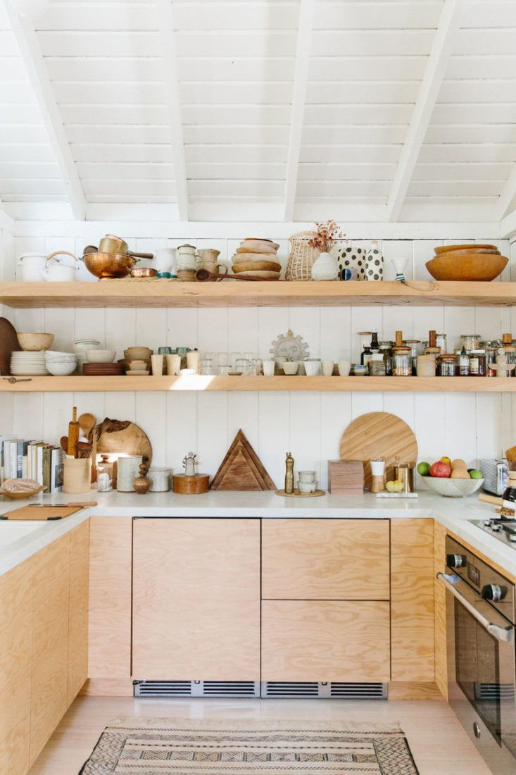 Kitchen of the Week: A Hip, Low-Key Kitchen in Topanga Canyon, Hidden Fridge Included - Remodelista