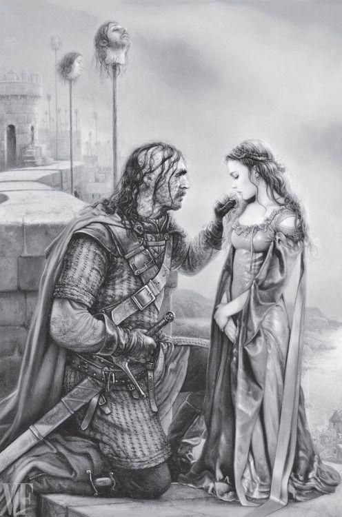 The Hound & Sansa, By Arantza Sestayo/Penguin... | Game of Thrones Fan Art