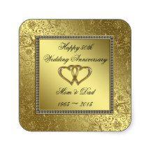 50th Wedding Anniversary Sticker Square Sticker