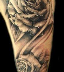 fajne róże #róża #tatuaże #kwiaty #tatuażekwiatki