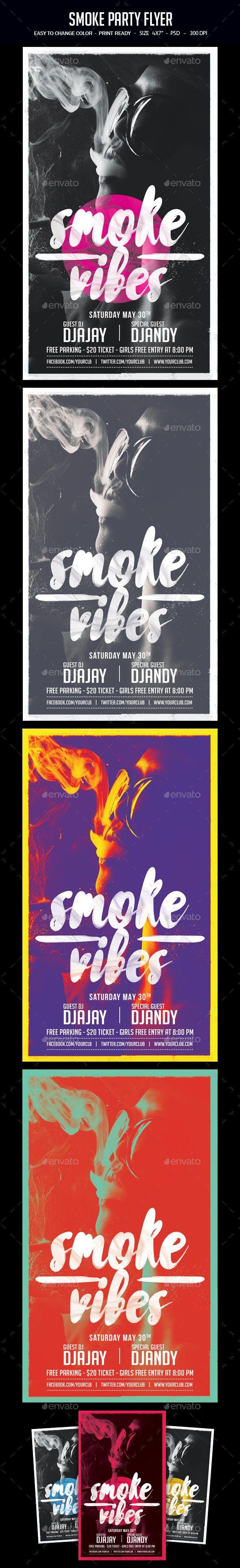 Poster design free - Smoke Party Flyer