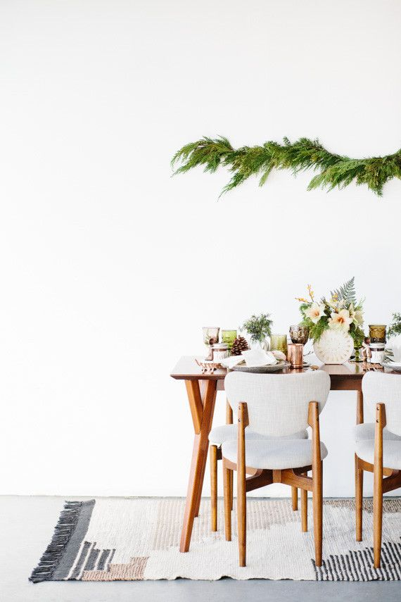 Modern Holiday Tablescape Inspiration 100 Layer Cake