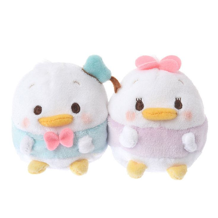 Disney Store Japan Donald & Daisy Ufufy Mini Plush Set New with Tags