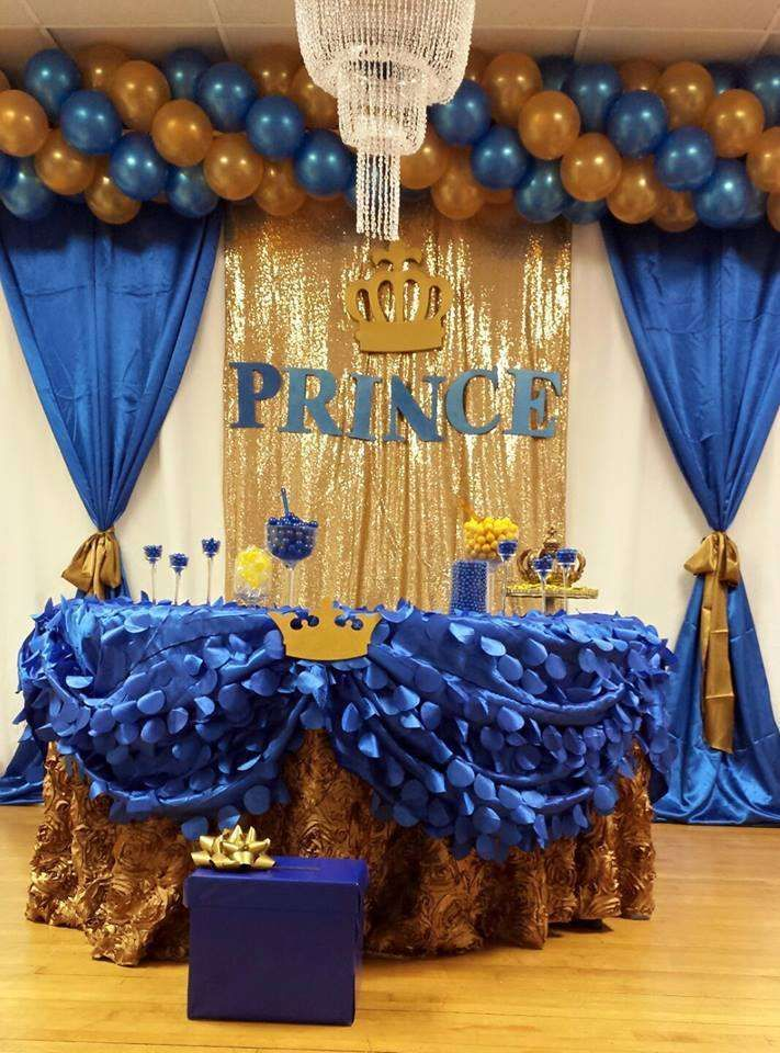 Royal Blue Prence Baby Shower Party Ideas