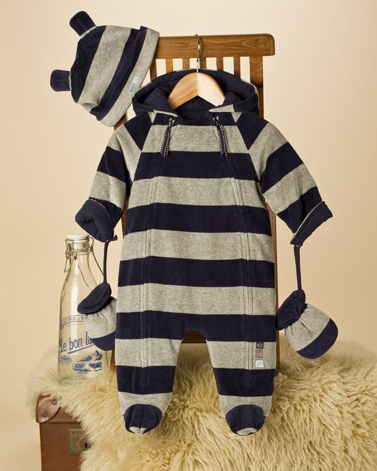 Velour Baby Boy Snowsuit - Baby Pram Suits / Snow suits - View by Product - Newborn Essentials