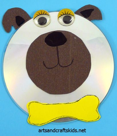 Dog Craft With An Old CD Pinned By Super Simple Songs Educational