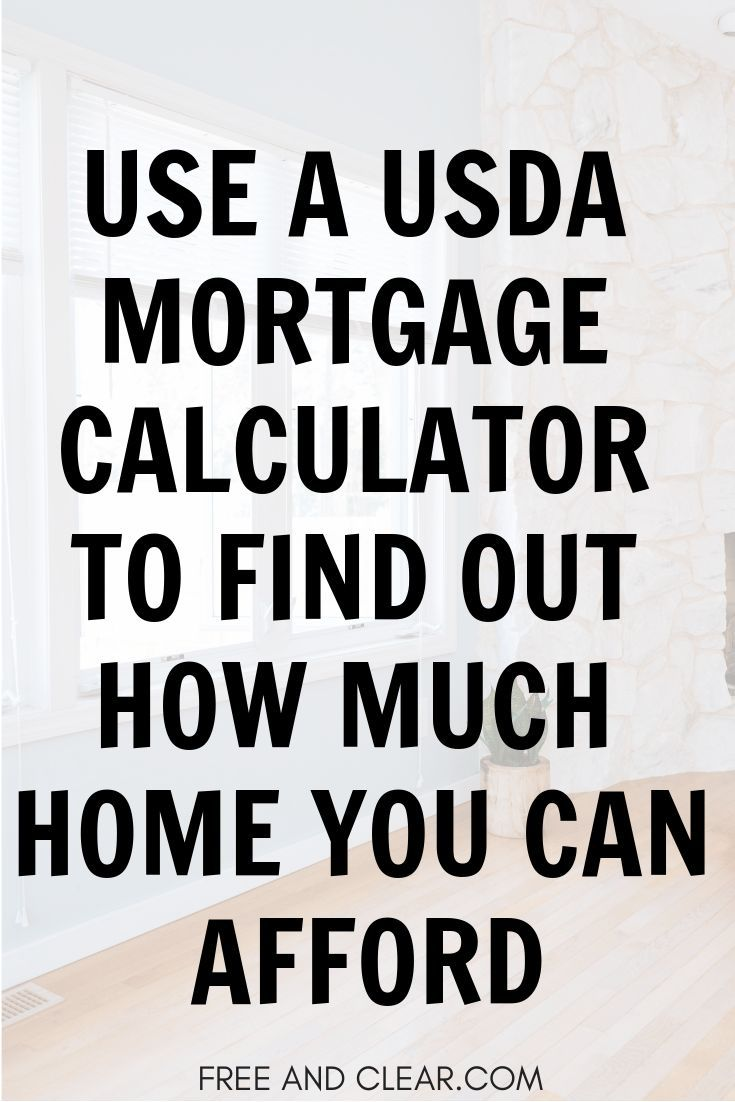 Usda Home Loan Qualification Calculator In 2019 Mortgages