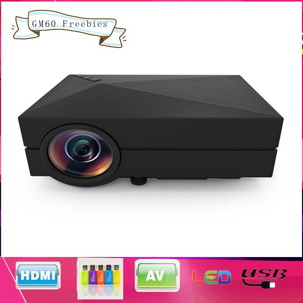2015 GM60 Home theater cinema 1000Lumen mini proyector VGA HDMI LED LCD HD Video 3D Projector/projetor projecteur US $66.98 /piece To Buy Or See Another Product Click On This Link  http://goo.gl/EuGwiH