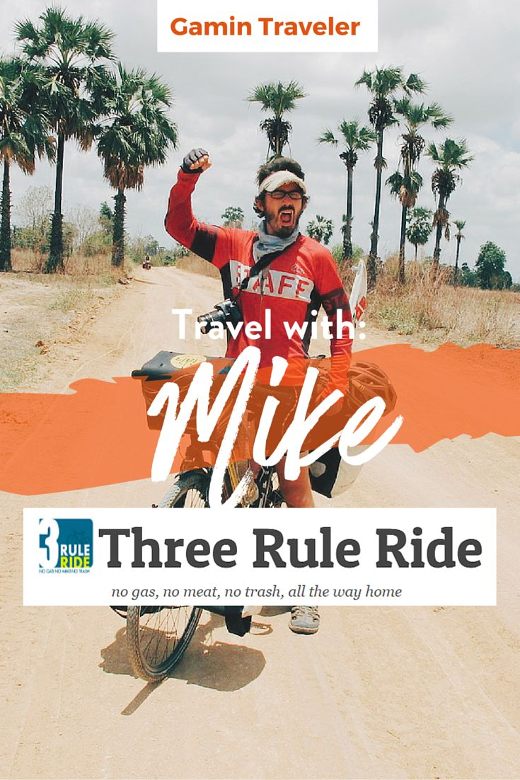 Mike has been 3 years traveling by bicycle around India. He has visited 14 countries and cycTravel blogger, Mike from Three Rule Ride has the ultimate mantra: Travel with no gas, no mean and no trash. We are excited to share to you our interview with Mike as he answers questions and shares to us his travel stories about how he biked 30,000 kilometers while not forgetting to keep the world clean and contribute his part to that cause. Read his interview and get inspired to travel green and…