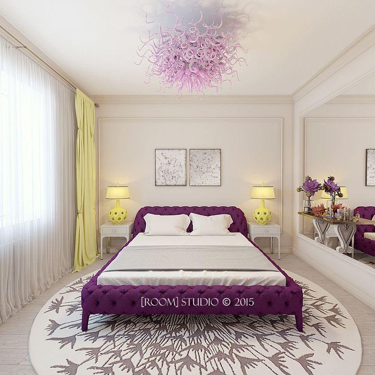 Дизайн интерьера в Казани. [Женская спальня] #roomstudiokazan #designinterior #bedroom #спальня