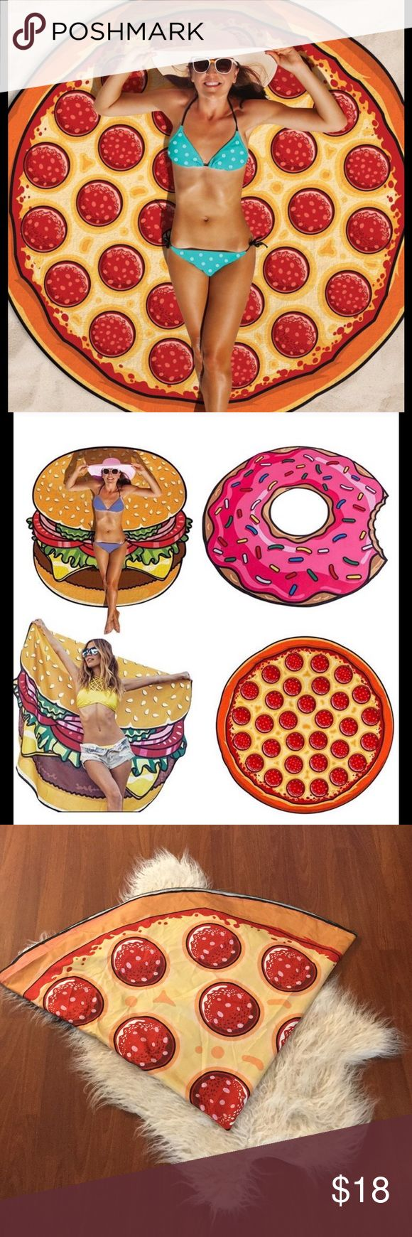 Pizza beach mat, round beach mat Great condition, used once at the pool. Round pizza beach mat. Use to lay on and as a sarong. Accessories