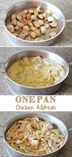 One-Pan Chicken Alfredo   21 Simple One-Pot Pastas