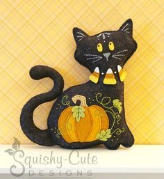 Cat Stuffed Animal Pattern Felt Plushie por SquishyCuteDesigns