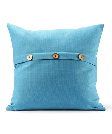Throw Pillows With Buttons : Blue Button Throw Pillow Throw pillows, Buttons and Pillows