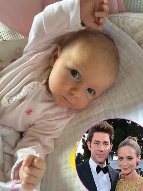 John Krasinski and Emily Blunt have shared the first picture of their daughter Hazel!