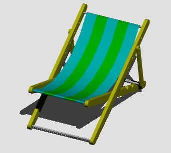 Silla De Playa 3d Dwg Dibujo De Autocad Estiu Manualitats