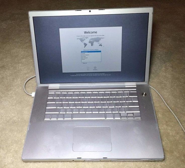 "Apple MacBook Pro (2007) 15.4"" Notebook 2.33GHz Core2 Duo/3GB RAM SSDWorking"