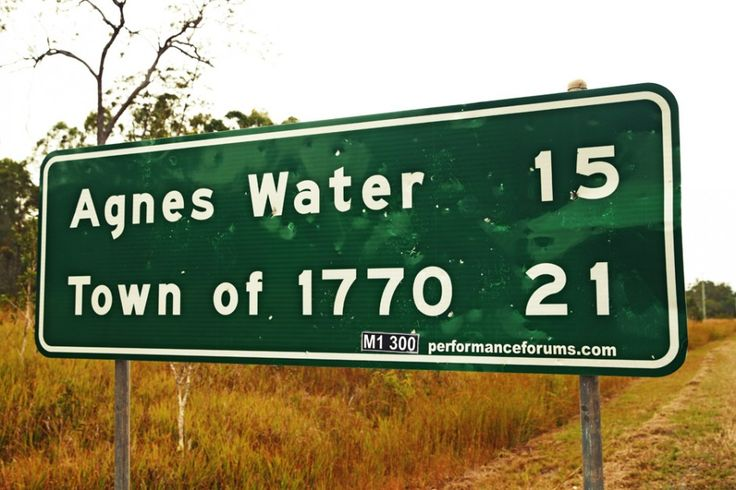 Captain Cook's first landing in what is now the state of Queensland happened on the 24th May 1770. The place was originally known as Round Hill but, in 1970, to commemorate the bicentennial of Lieutenant James Cook's landing, the name of the local village was changed to 1770.