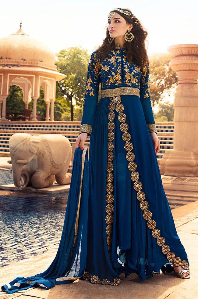 Exclusive Navy Blue Anarkali Suit