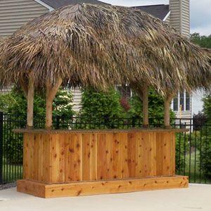 Tiki Bar - Red Cedar Tiki Bar - Custom Tiki Bars For Sale ... on Backyard Tiki Bar For Sale id=63078