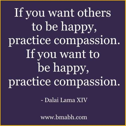 Dalai Lama Quotes On Compassion picture-If you want others to be happy, practice compassion. If you want to be happy, practice compassion. Visit www.bmabh.com for more #Dalai Lama Quotes. Be Motivated And Be Happy - bmabh.com