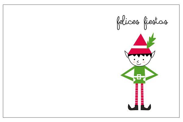 Tarjetas de navidad para imprimir free printable - Tarjetas de navidad artesanales ...