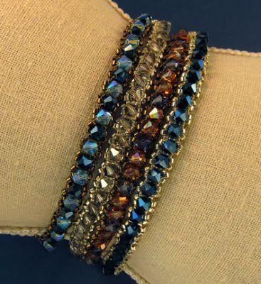 Sandra D Halpenny - Free Bead Patterns and Ideas : Tennis Bracelet Pattern - Free Tutorial