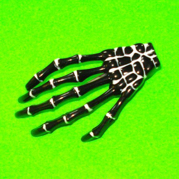 Old Bones Hair Clip https://www.etsy.com/ca/listing/293537131/old-bones-skeleton-hand-alligator-hair