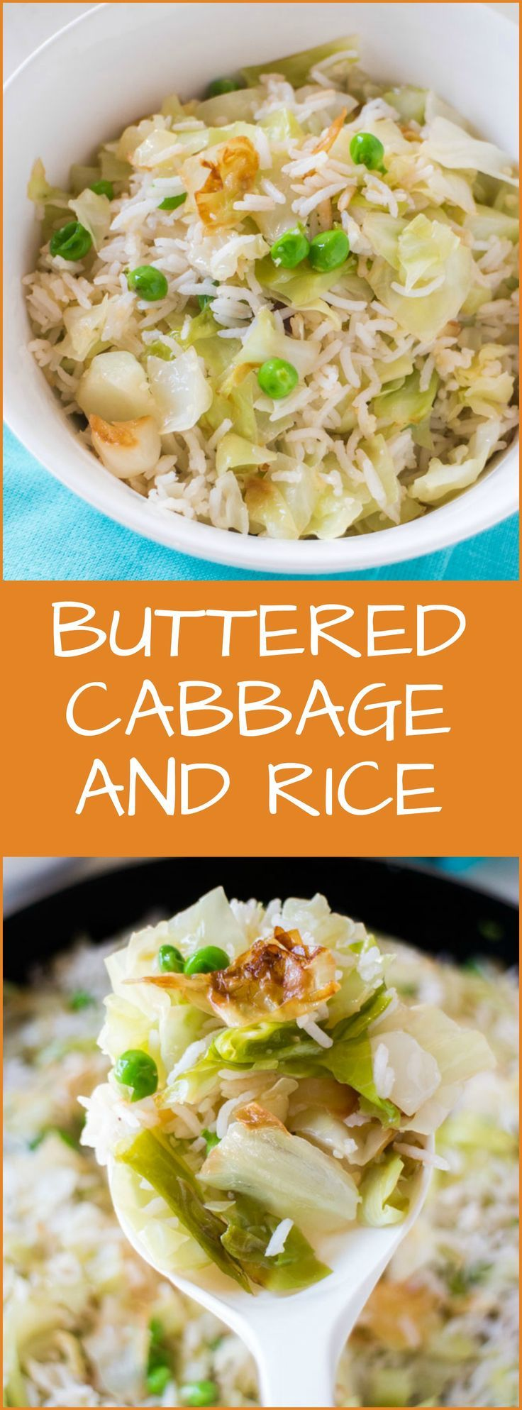Buttered Cabbage and Rice is a comfort food recipe that only takes 20 minutes from start to finish! It's a great back to school dinner recipe!