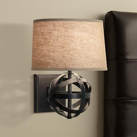 Robert Abbey Lucy Bronze Finish Plug-In Wall Sconce