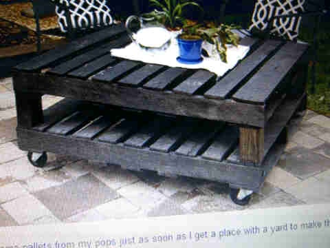 How About A Some Trendy Skid Furniture? Make Sure To Sand The Wood!