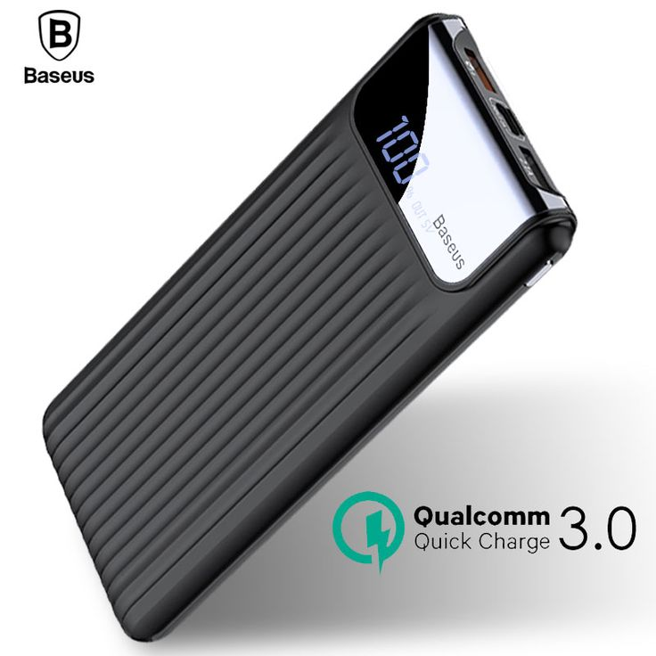 awesome Baseus Quick Charge 3.0 Power Bank 10000mAh Dual USB LCD Powerbank External Battery Charger For Mobile Phones Tablets Poverbank