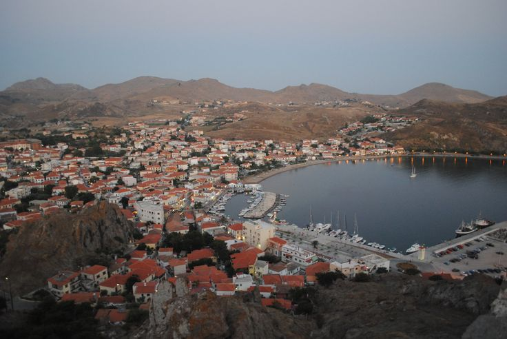 Limnos island! view from the castle! myrina