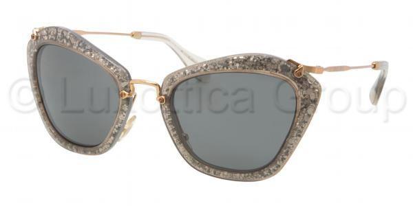 Gafas Online - Sunglasses - Miu Miu - SMU 10NS - Gafas de sol - Miu Miu - SMU 10NS - IAH1A1 SMOKE/GLITTER SILVER GRAY