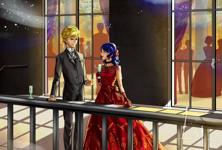 Marinette and Adrien at the ball~ (Miraculous Ladybug)